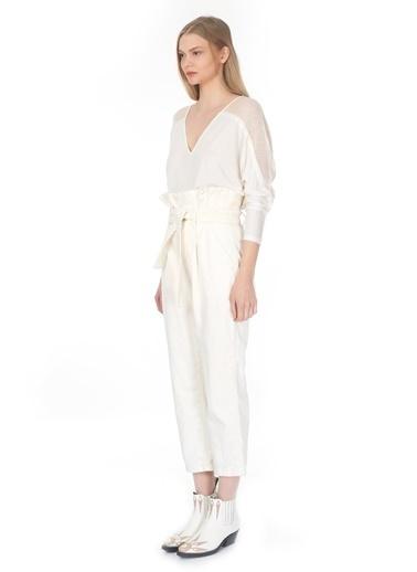 Tuba Ergin Pantolon Beyaz